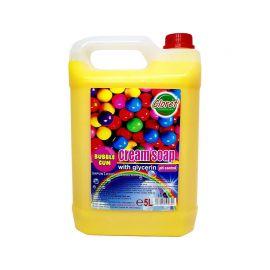 Sapun lichid maini, Bubble Gum, cu glicerina, PH - control, 5L, Cloret